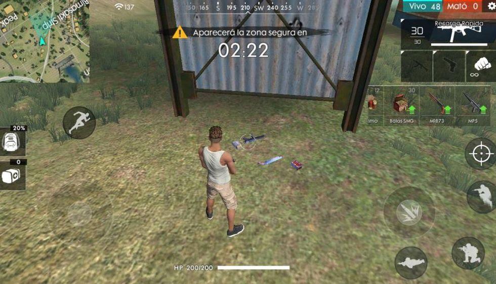 Encuentra armas y municiones para luchar contra tus oponentes