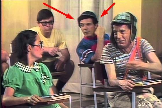 El esposo de María Antonieta de las Nieves, Gabriel Fernández, apareció en varias ocasiones en los capítulos de la escuela, actuando como un compañero más de clase. (Fuente: Televisa)